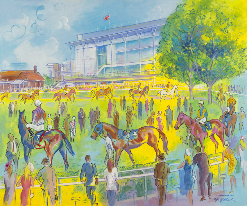 Newmarket Rowley Mile Colours by Terence Gilbert