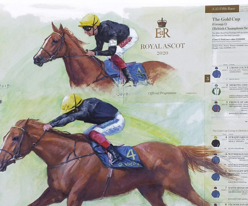 Stradivarius – Ascot Gold Cup Montage by Terence Gilbert