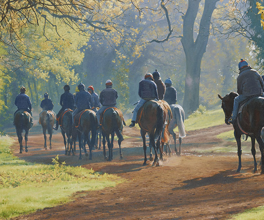 Heading Home – Warren Hill, Newmarket  by Peter Smith